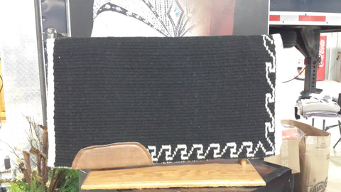 Saddlepad Black/Natural Border Design 8782-32