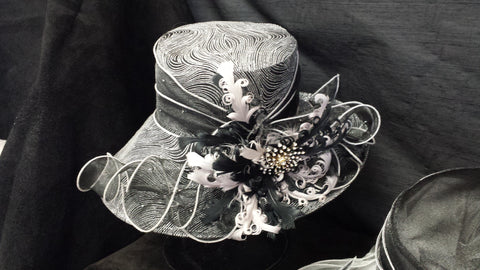 Black and White Swirls Hat