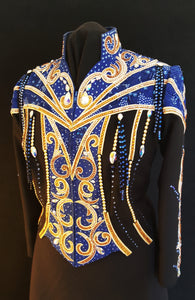 Royal Blue and Black Western Pleasure Jacket, Ladies L, 1680A
