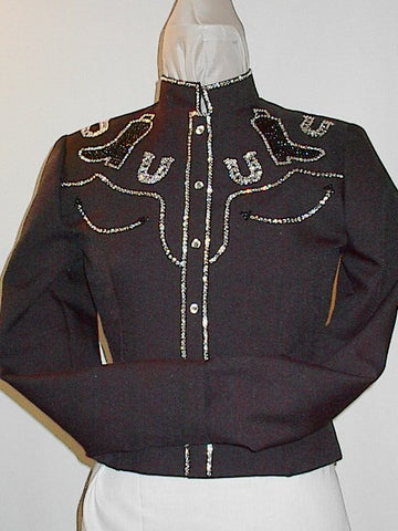 Budget Black Pleasure Retro Style Jacket, Ladies S, 1943E