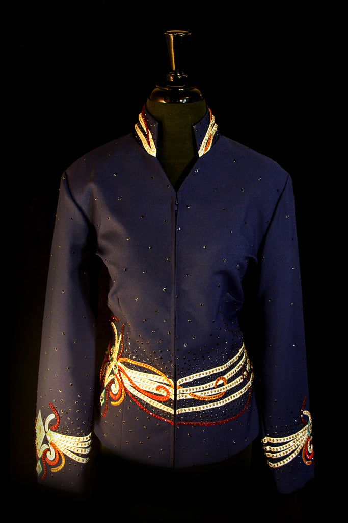 SOLD Navy Showmanship Show Jacket, Ladies L, 25717