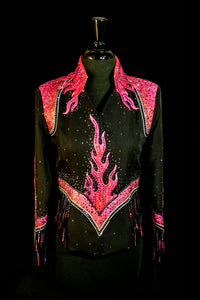 #1157A Black/Pink Pleasure Show Jacket,  Ladies S, 3201-22
