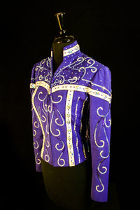 Ladies S Purple Show Jacket Showmanship Outfit, 5034AB