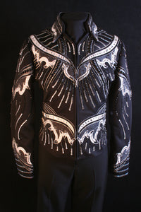 #1402 Black Stretch Show Jacket, Ladies L, 6798-19