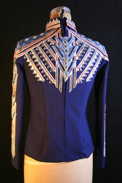 "#1805 ""Navy Line Up"" Equitation Show Blouse, Ladies M 27594"