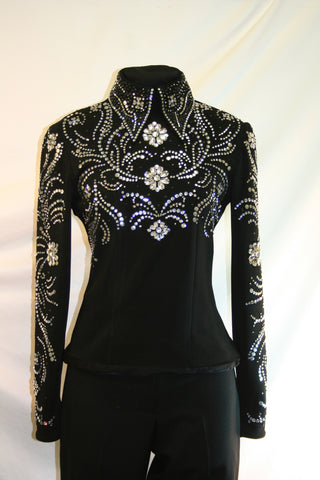 Black Stretch Horsemanship Blouse, Ladies S, 1780A