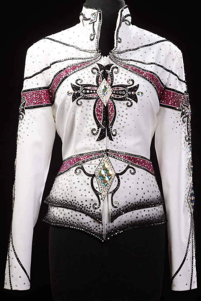 White/Red/Black Pleasure Jacket, Ladies L, 5269A