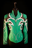 #1003a Emerald Green Show Jacket and Pants, Ladies M