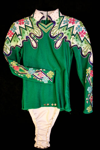 #1314 Emerald Green Horsemanship Outfit, Girls 8, 3202-30