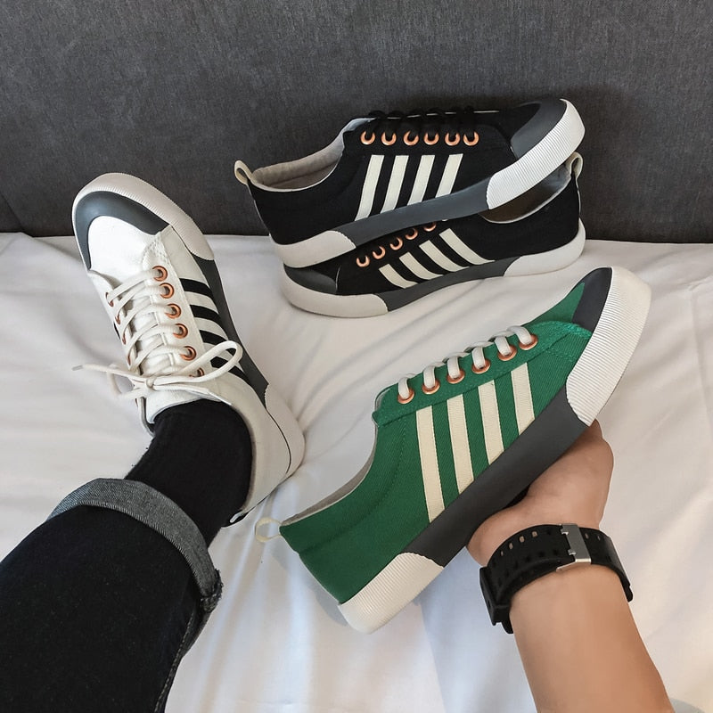 Lace up Sneakers with Side Stripes