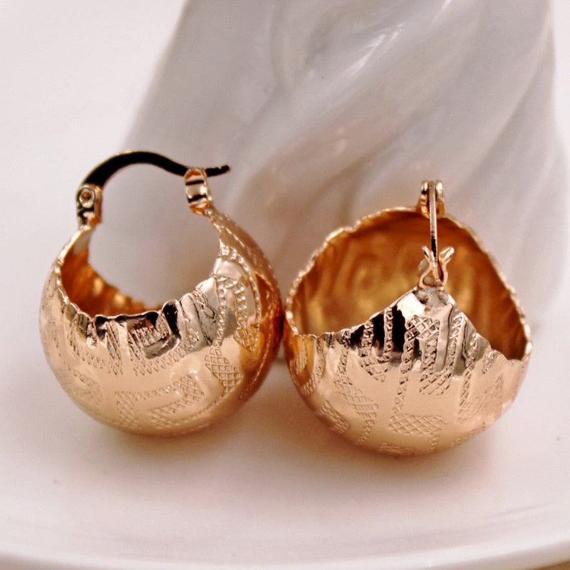 Pattern Earring Large Round