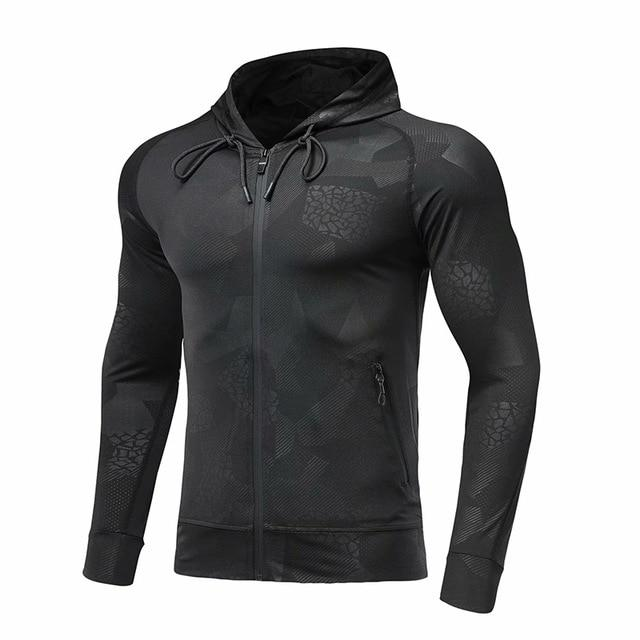 Long Sleeve Gym Jackets With Hood