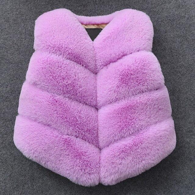 Thick Faux Fur Vest for 6-8 Years