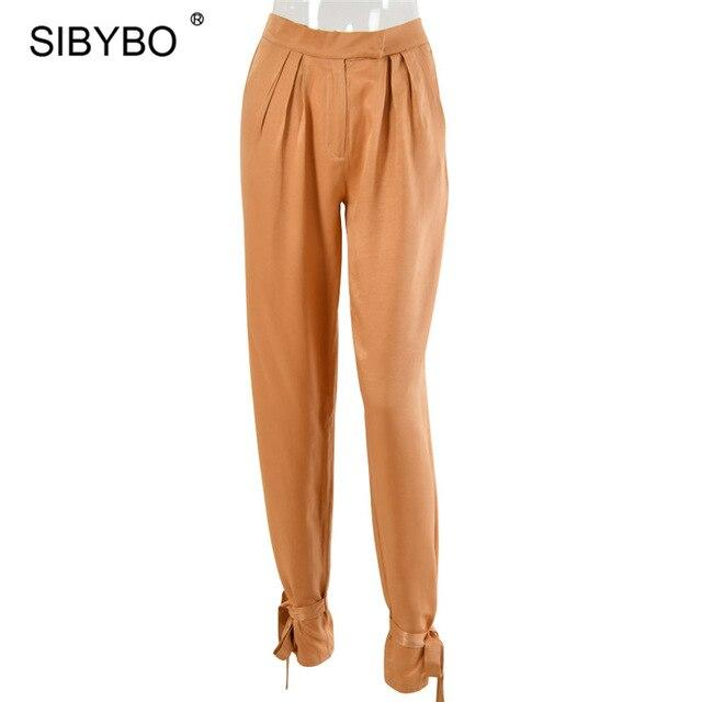 Satin High Waist Pants