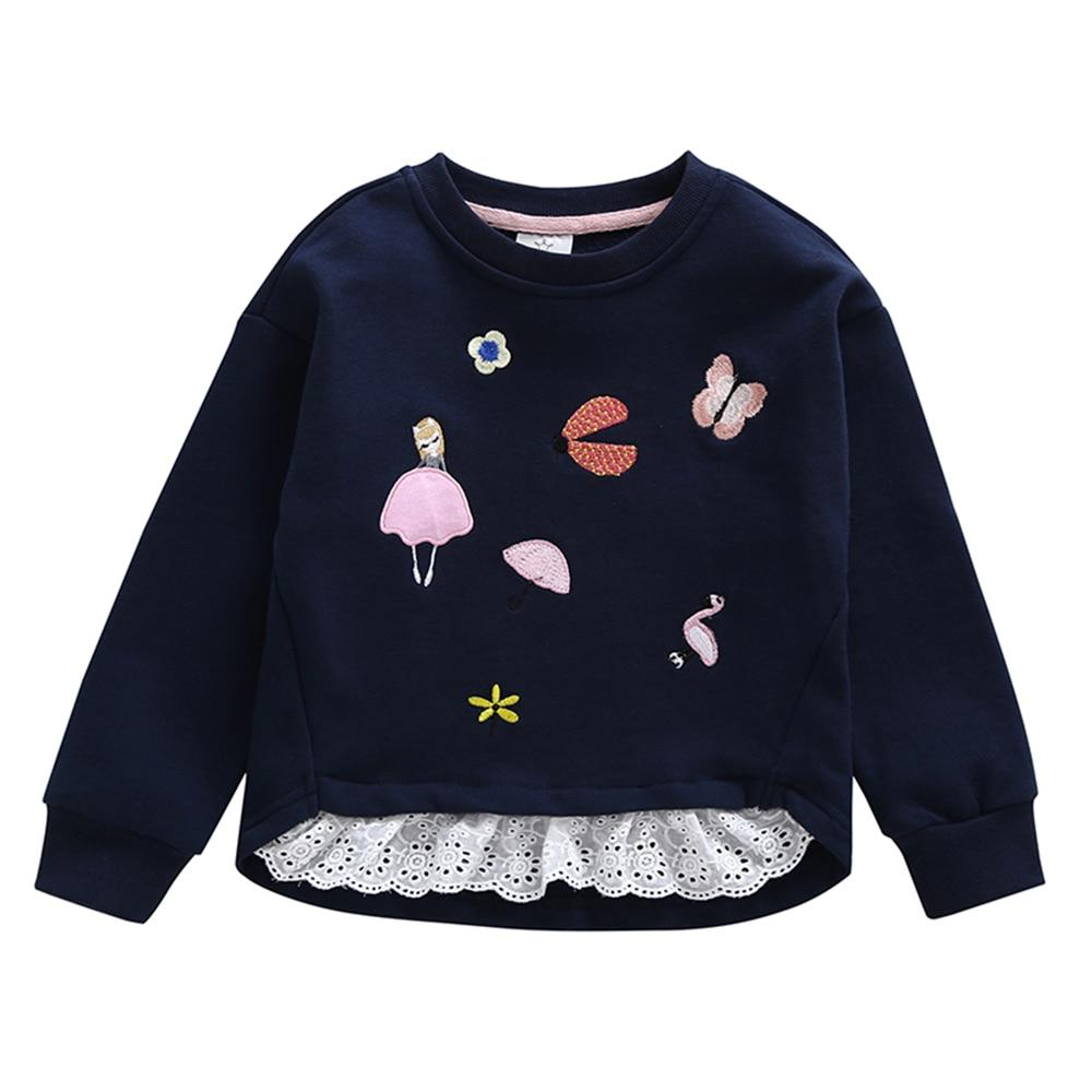 Sweatshirt with Lace for 6-9 Years