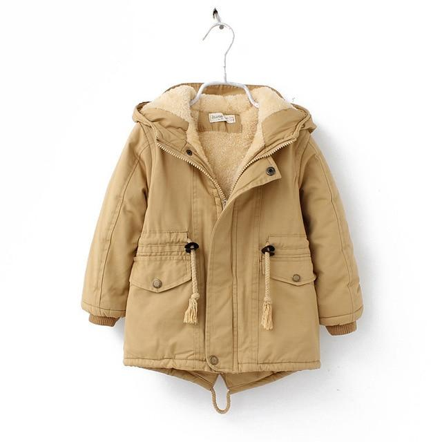 Plush Thickened Cotton Coat for 6 - 8 Years