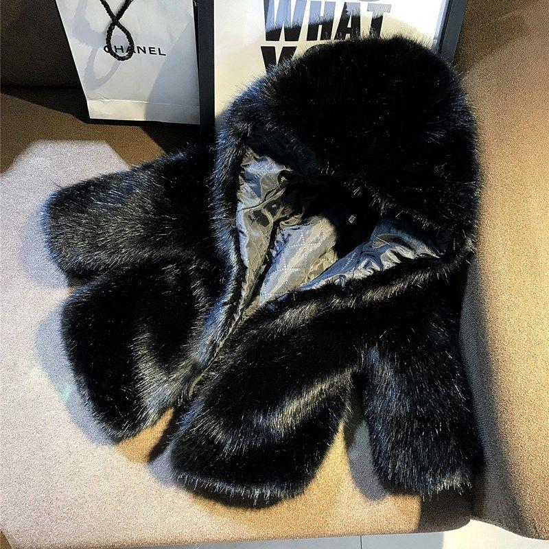 Faux Fur Winter Coat for 6-9 Years