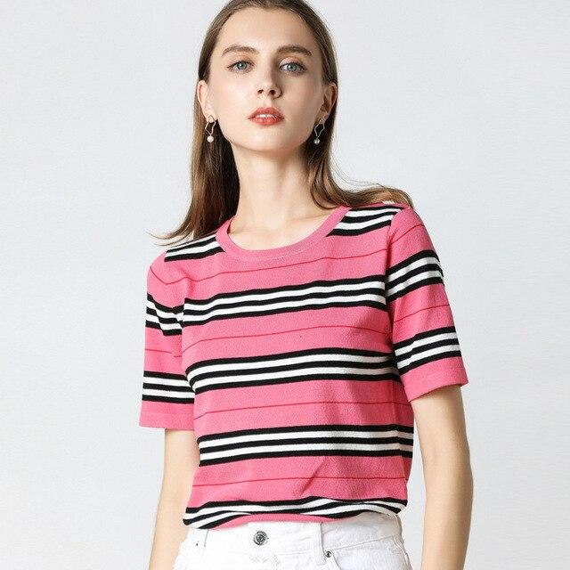 Striped O-Neck T-Shirt