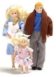 4Pc Modern Doll Family/Blond