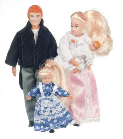 4 Piece Victorian Doll Family Blond
