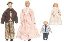 4 Pc Porcelain Doll Family