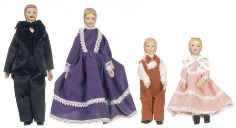 4 Piece Porcelain Doll Family