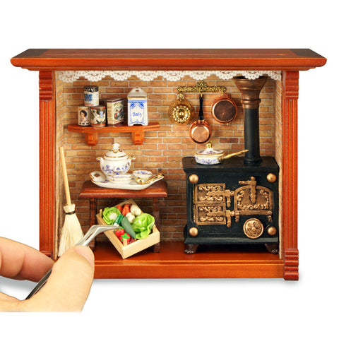 Antique Kitchen Shadow Box