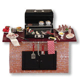 Complete Barbecue Grill with Food