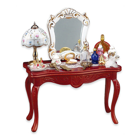 Cosmetic Table w/ Mirror Set