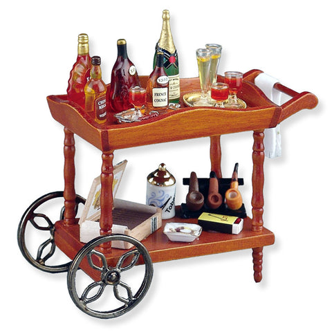 Gentleman's Liquor Serving Cart