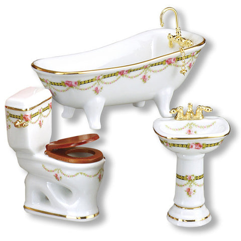 Victorian Rose Bath w/Low Toilet