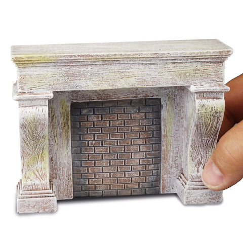 Gray Fireplace Unit