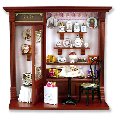 Complete Cafe Shop Shadow Box Display