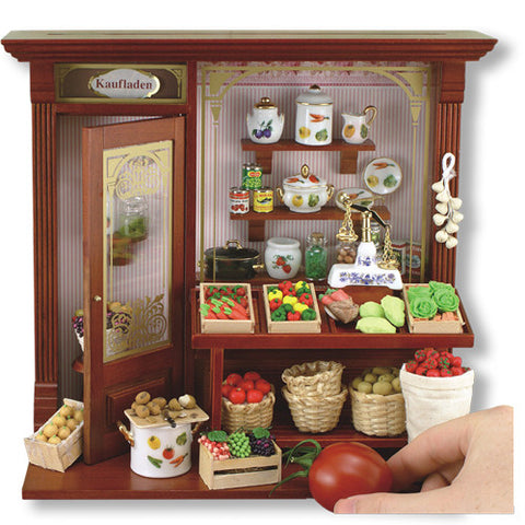 Complete Grocer's Shop Shadow Box Display