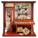 Complete Wine Shop Shadow Box Display