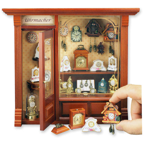 Complete Clock Shop Shadow Box Display