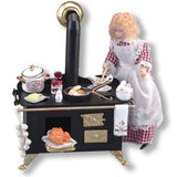 Decorated Black Metal Cook Stove