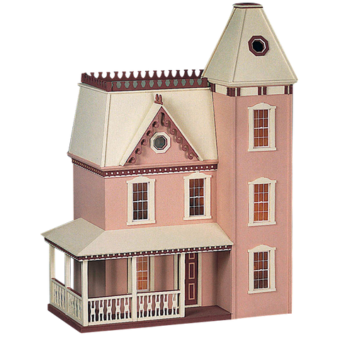 Lilliput Apple Blossom Dollhouse Kit Smooth Plywood & Stucco