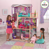 "Elegant 18"" Doll Manor with Furniture"