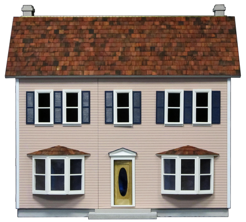 Finished 1 Inch Scale Front Opening Bay Harbor Dollhouse in Chippendale Rose