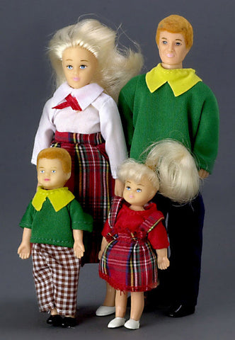 4 Piece Modern Doll Family Blond