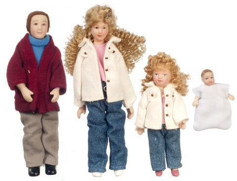 4 Piece Modern Doll Family