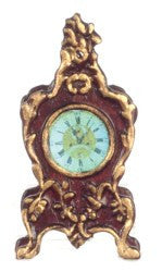 Mantle Clock/Mahogany/Gld
