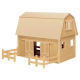 """Ruff 'n Rustic"" All American Barn Dollhouse Kit"