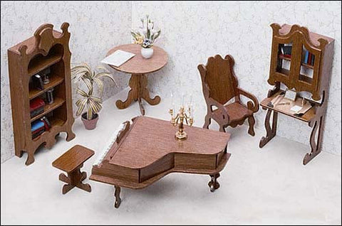 Dollhouse Library Furniture Kit