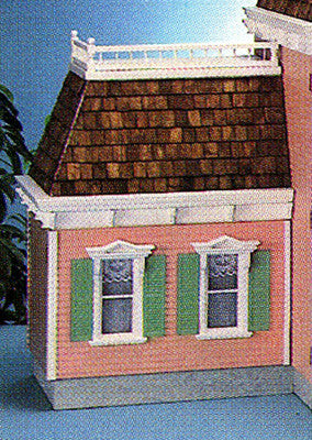 Front Opening Mansard Addition (Lt. or Rt.) Dollhouse Kit