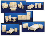 Wooden Block Play Furniture Set