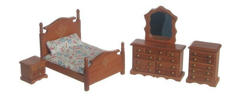 "1/2"" Pecan Bedroom set of 3"