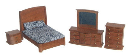 "1/2"" Pecan Double Bed set of 3"