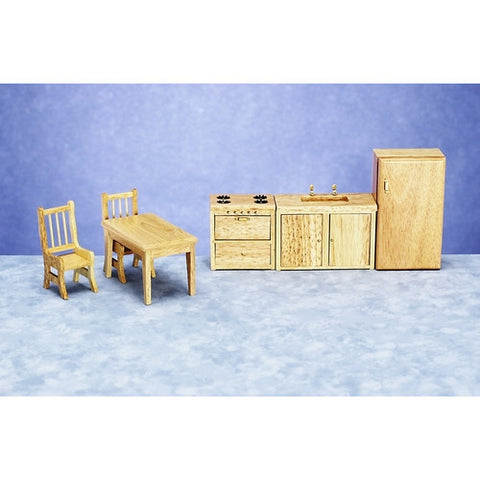 "1/2"" Modern Oak Kitchen Set of 6"